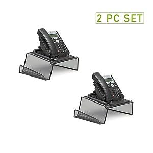 Mind Reader Metal Desktop Phone Stand, 2 Pack, Black