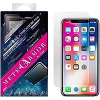 牢固的 9H 玻璃纤维屏幕保护膜适用于 iPhone X/Xs 或 XR 或 Xs Max - Moxbii Metearmor 防震膜 - 防刮,触感光滑,高清,超薄APIXF-M iPhone XR
