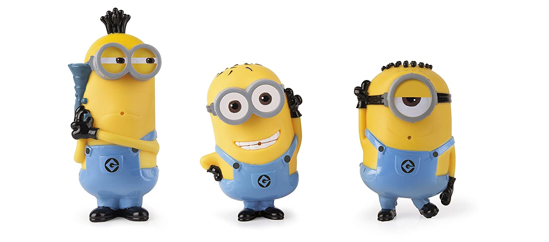 IMC Toys 375284 3 Figuras de ba/ño Minions Despicable me