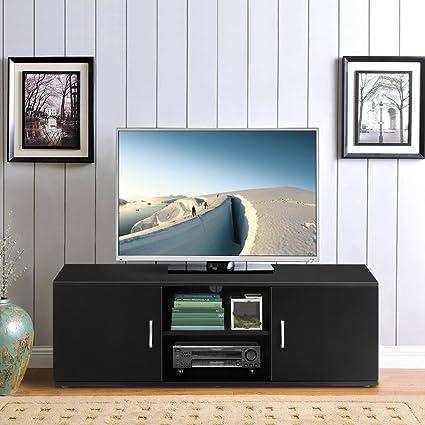 LANGRIA Mobile da Soggiorno Mobile TV Porta di 2-Tier con il Design ...