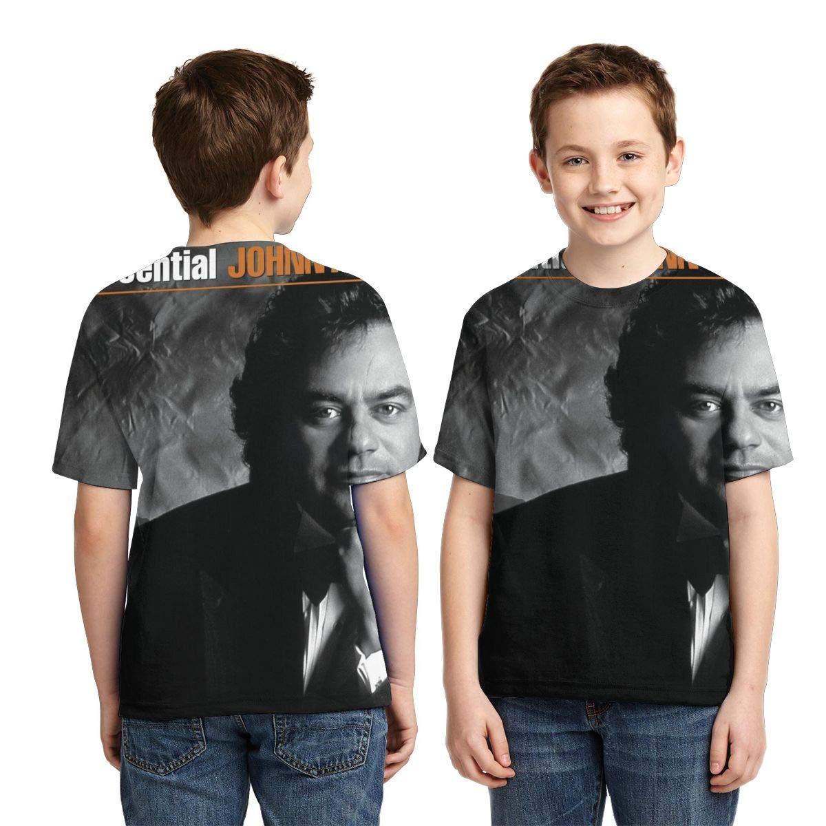 BowersJ Childrens Johnny Mathis The Essential Johnny Mathis Design 3D Printed Short Sleeve Tshirts for Girls /& Boys Black