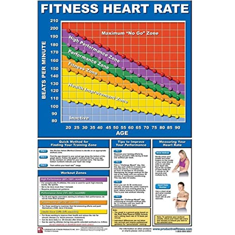 Amazon Productive Fitness Poster Series Laminated Heart Rate
