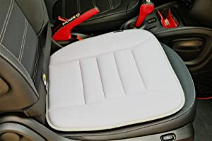 King phenix Car Seat Cushion with 1.2inch Comfort Memory Foam, Seat Cushion for Car and Office Chair (Gray)