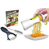 Spiralizer Newest & Improved 2018 Vegetable Slicer Complete Bundle - Best Vegetable Cutter - Zucchini Pasta Noodle Spaghetti Maker