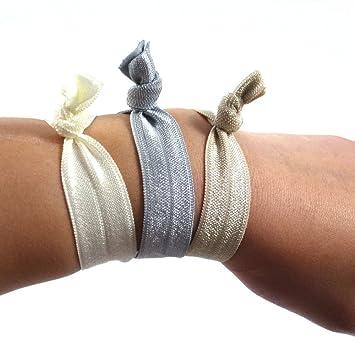 rougecaramel , Accessoires cheveux , Elastique cheveux ou bracelet couleur  uni , lot de 3 pcs Amazon.fr HygiÚne et Soins du corps