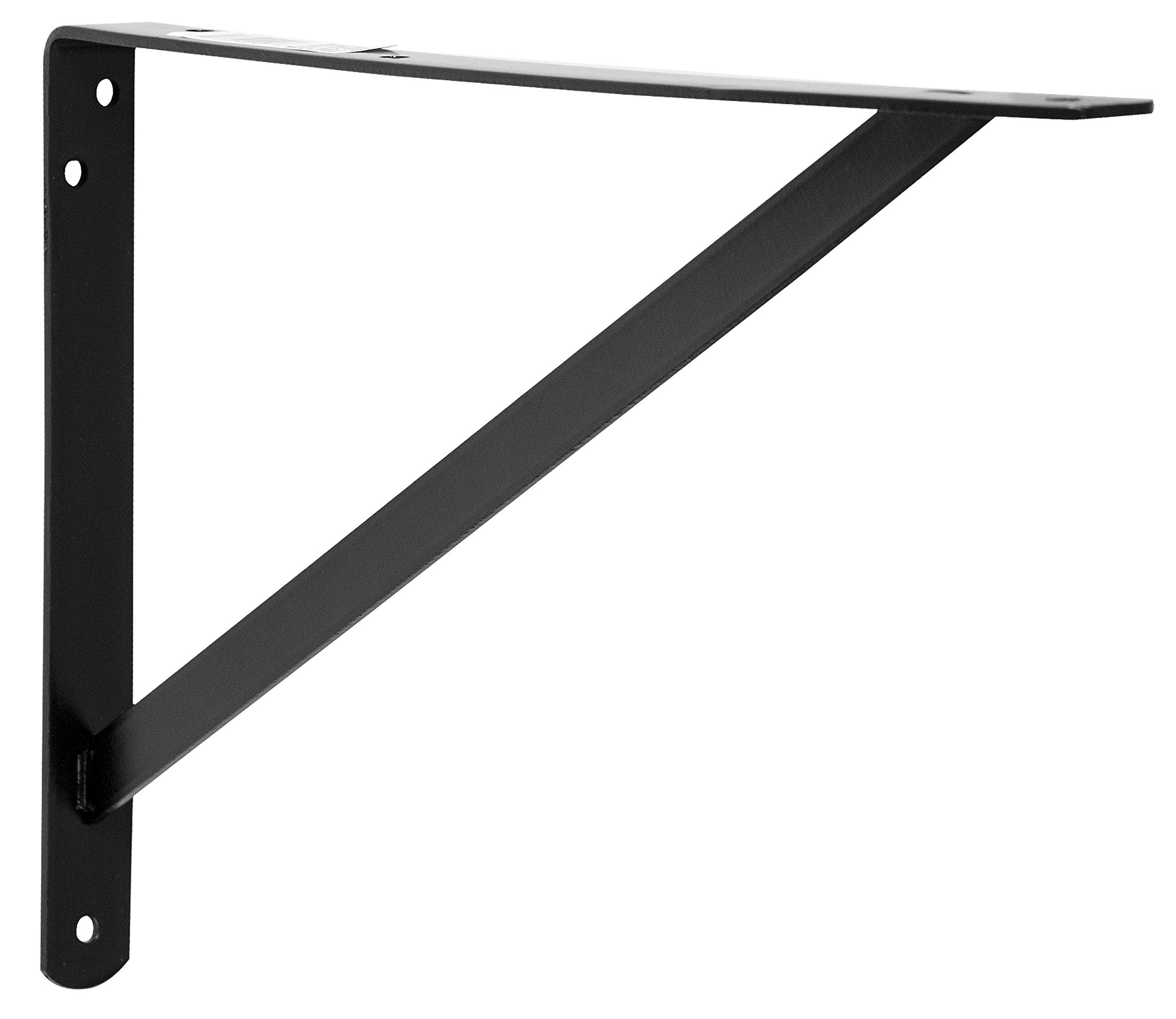 Decko 49147 Heavy Duty Shelf Bracket, 14.5-Inch by 10-Inch, Black, 10-Pack