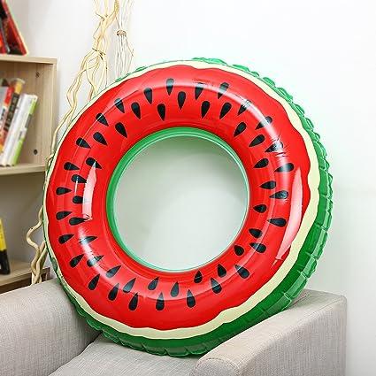 Sandía inflables del Anillo del Flotador de DIÁMETRO Rojo 90 CM