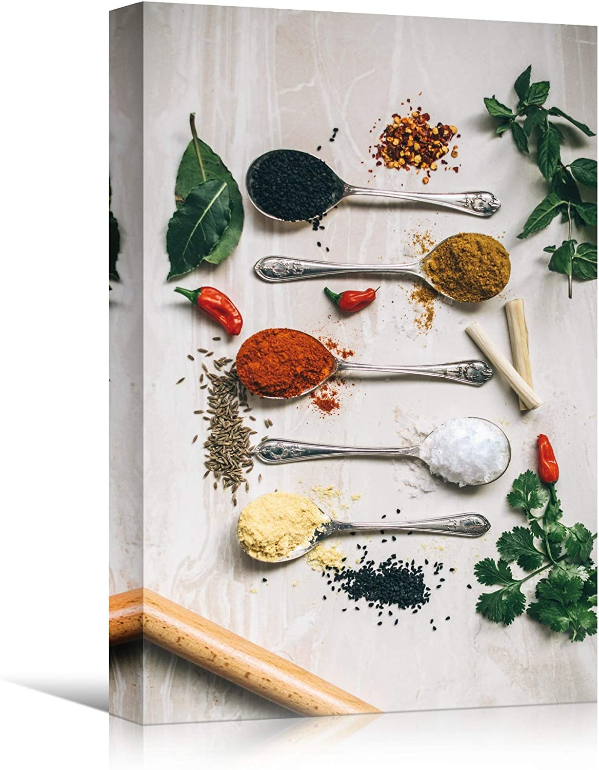 signwin Canvas Wall Art Spices Farmhouse/Country Food Fun Kitchen Multicolor Photography Spices - 12x18 inches