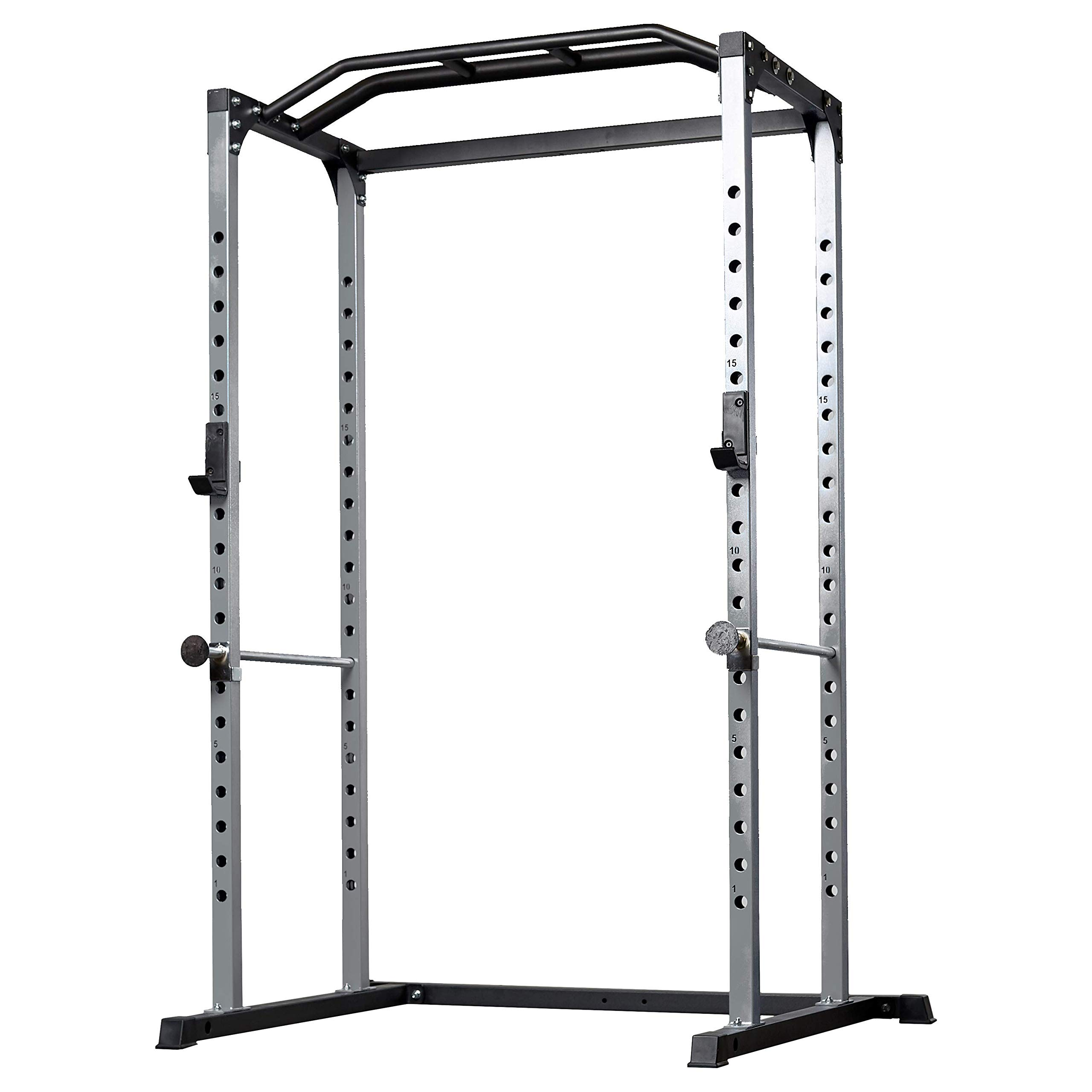 Rep PR-1100 Power Rack - 1,000 lbs Rated Lifting Cage for Weight Training (Silver Power Rack, No Bench) by Rep Fitness (Image #1)