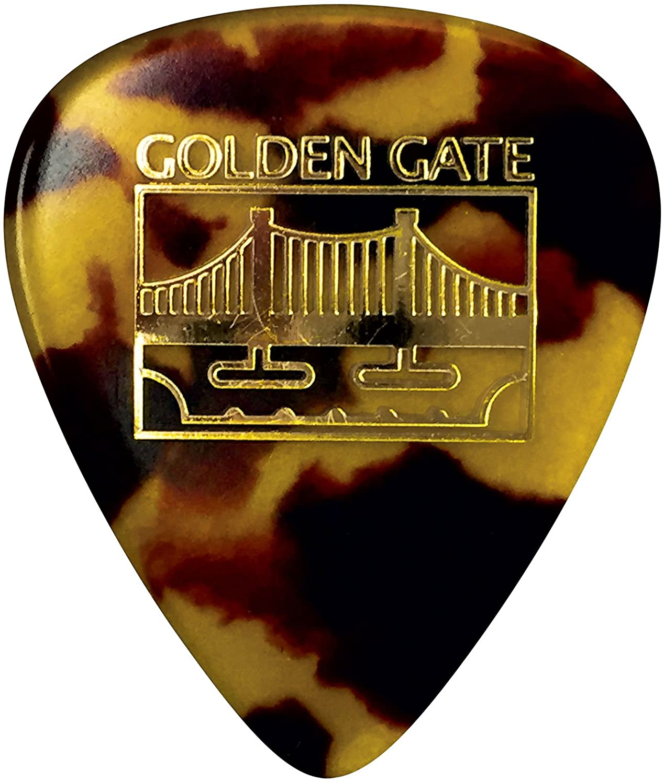 Dozen Golden Gate MP-12 Deluxe Tortoise Style Mandolin Pick Rounded Triangle