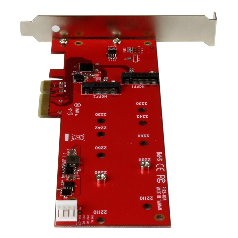 StarTech.com 2x M.2 SSD Controller Card NGFF Card Adapter (PEX2M2) by StarTech
