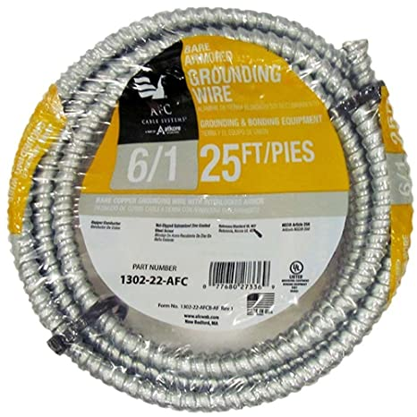 25 Ft 6 1 Bare Armored Ground Cable Amazon Com Industrial Scientific