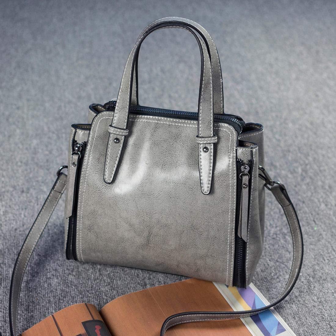 GSAYDNEE GSAYDNEE GSAYDNEE Echtes Leder Handtaschen für Frauen Umhängetasche Hobo Handtasche Tote Umhängetasche (Farbe   grau) B07PSDKZ3X Clutches Für Ihre Wahl 86ff7a