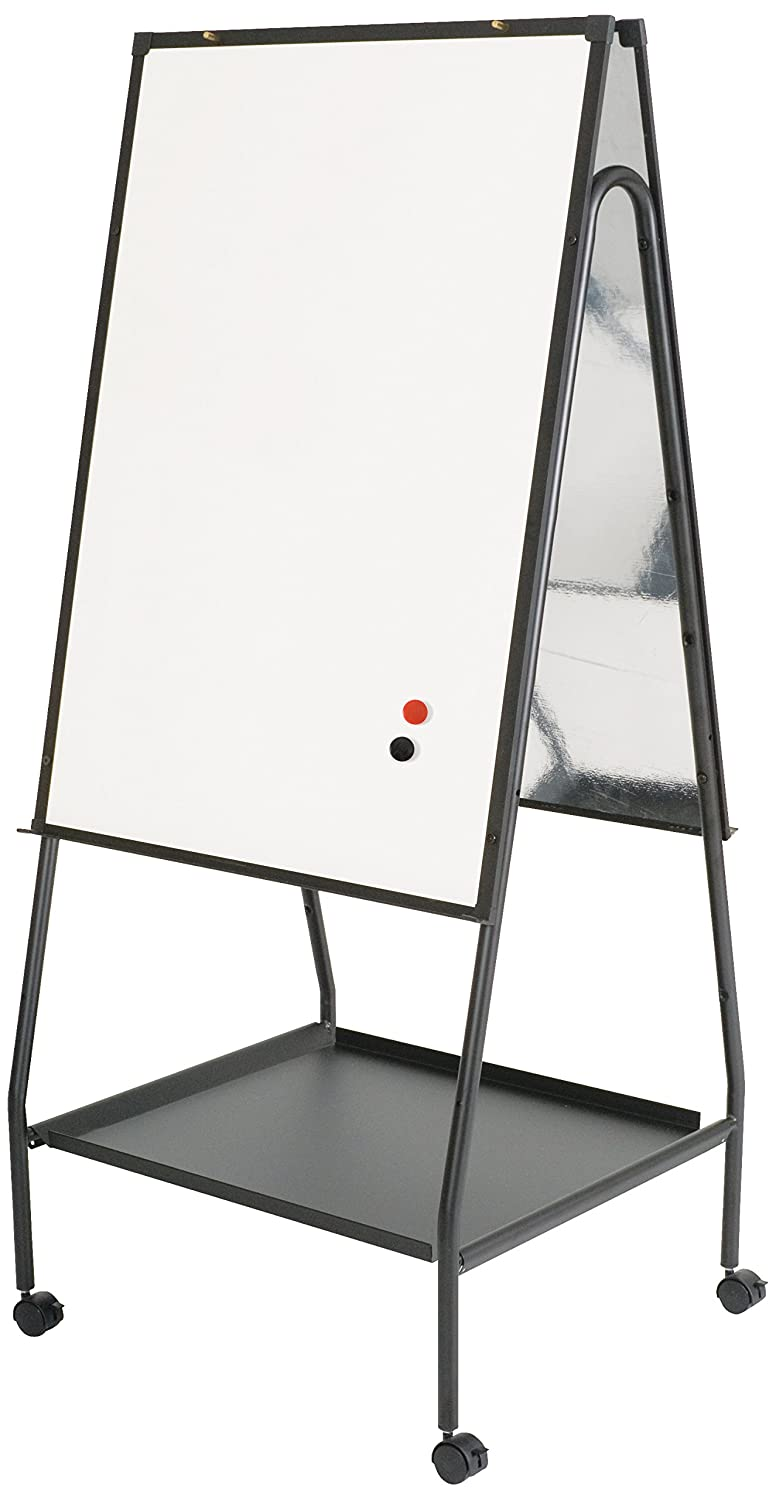 Best-Rite Wheasel, Double Sided Dry Erase Melamine Whiteboard Easel, 65H x 28.75W x 27D (759)