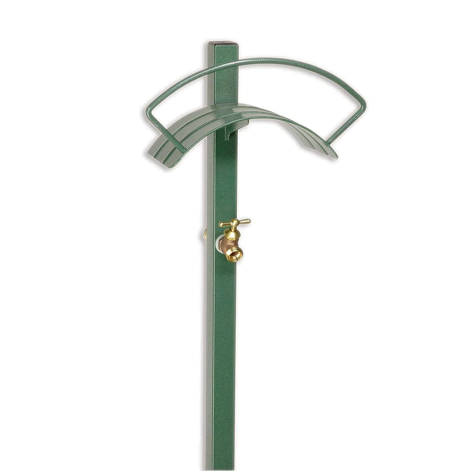 garden hose holder stake with faucet bib or without
