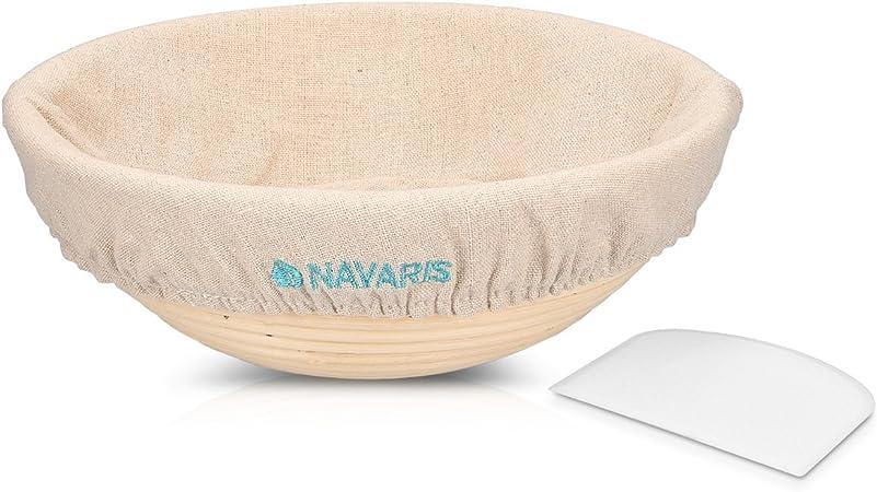 Home Natural Rattan Basket Bread Banneton Brotform Dough Proofing Bakeware Kit J