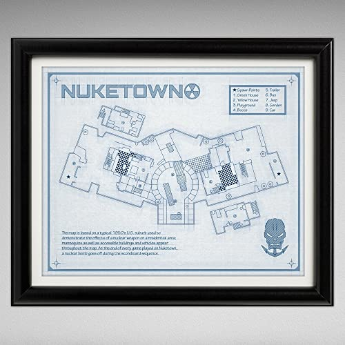 Amazon nuketown game map blueprint style print 8x10 cod nuketown game map blueprint style print 8x10 cod malvernweather Gallery