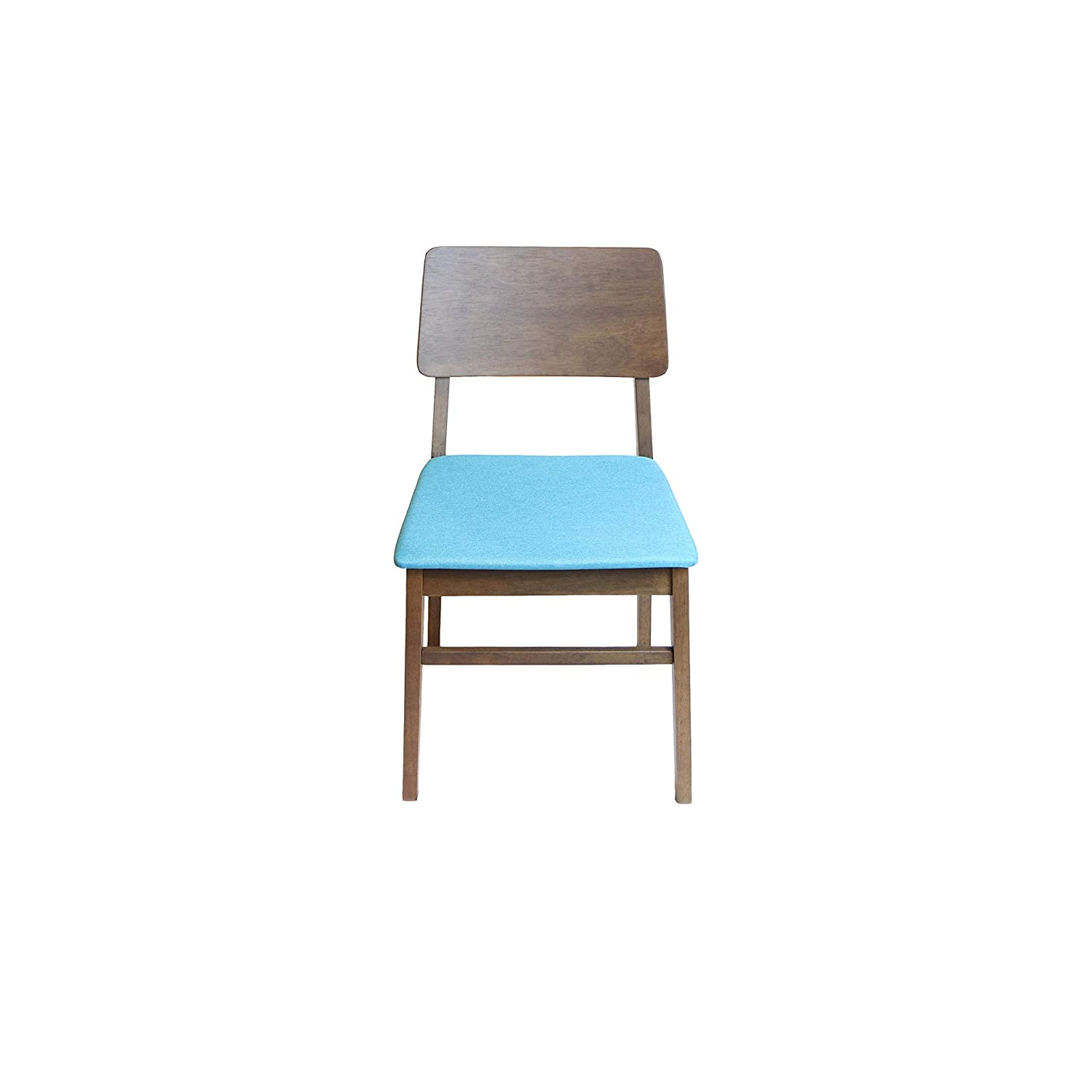 Amazon.com - AVRS Solid Wood Dining Chair Set of 2 (Blue ...