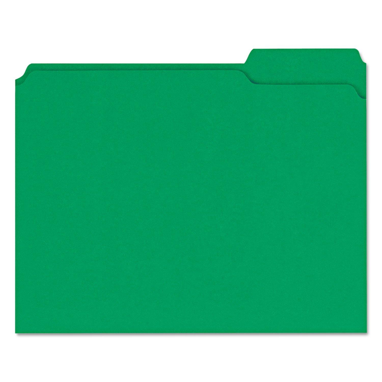 descuento de ventas en línea Colored File Folders, 1/3 Cut Assorted, Two-Ply Top Tab, Tab, Tab, Letter, Green, 100/Box  hasta 42% de descuento