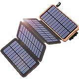 Solar Charger 25000mAh, Tranmix Portable Solar Phone Charger with 4 Solar Panels, High Capacity Solar Power Bank External Bat