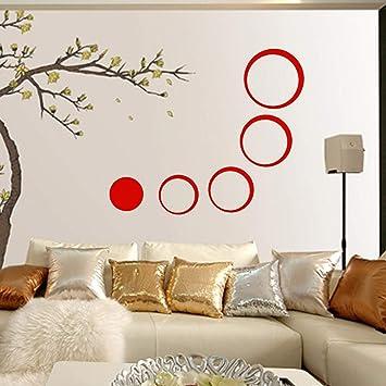 Batop DIY Circles Wall Mirror Stickers - Vinyl Art Mural Wall Sticker - Room Decoration -