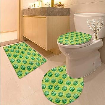 Amazon Com Artichoke Bathroom And Toilet Mat Set Field Of Healthy