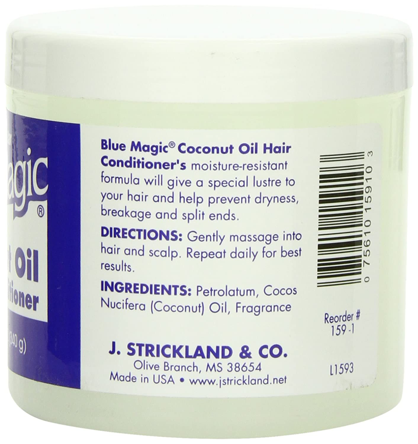 Amazoncom  Blue Magic Coconut Oil Hair Conditioner  Oz Pack - How to use coconut oil on hair