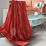 THXSILK 100% Silk Blanket Comforter Throw for Sofa Reading Travel Baby Toddler Child - Ruby Red, 53x60 inch