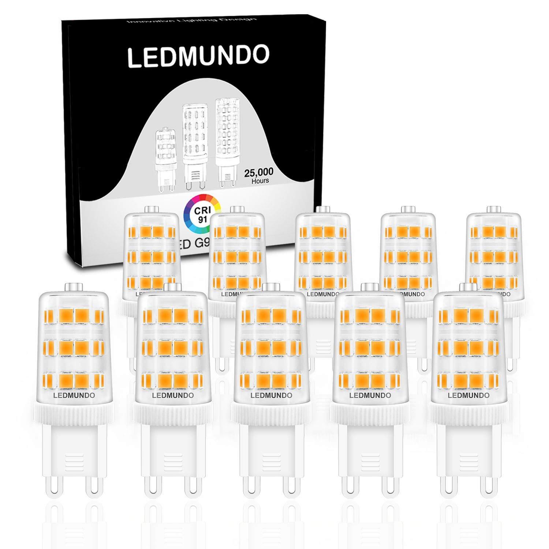 High CRI 90+ G9 LED Light Bulb: Pack of 10 360 Degree Omni Beam Angle 120V AC Flicker-Free 360LM Daylight White 5000K Halogen Bulbs 40W ETL Listed LED Light Bulbs Halogen Replacement Bulbs 3.5W