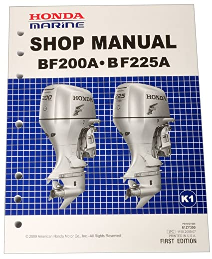 amazon com honda bf200 bf225 k1 k2 marine outboard service repair rh amazon com Honda 4 Stroke Outboard Diagrams Honda Outboard Motor Owner's Manual