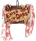 "11"" x 7.5"" 'Enter if you Dare' Gory Halloween Decorative Sign"