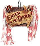 """11"""" x 7.5"""" 'Enter if you Dare' Gory Halloween Decorative Sign"""