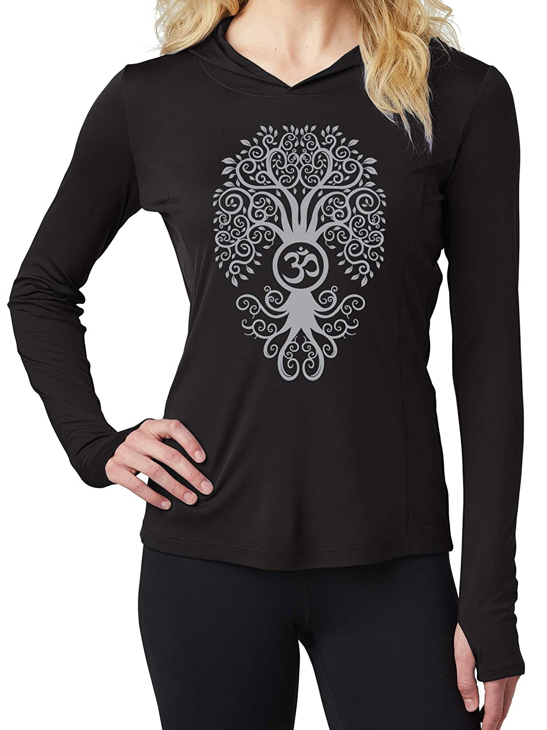 Amazon.com: Yoga Clothing For You Womens Grey Bodhi Tree ...