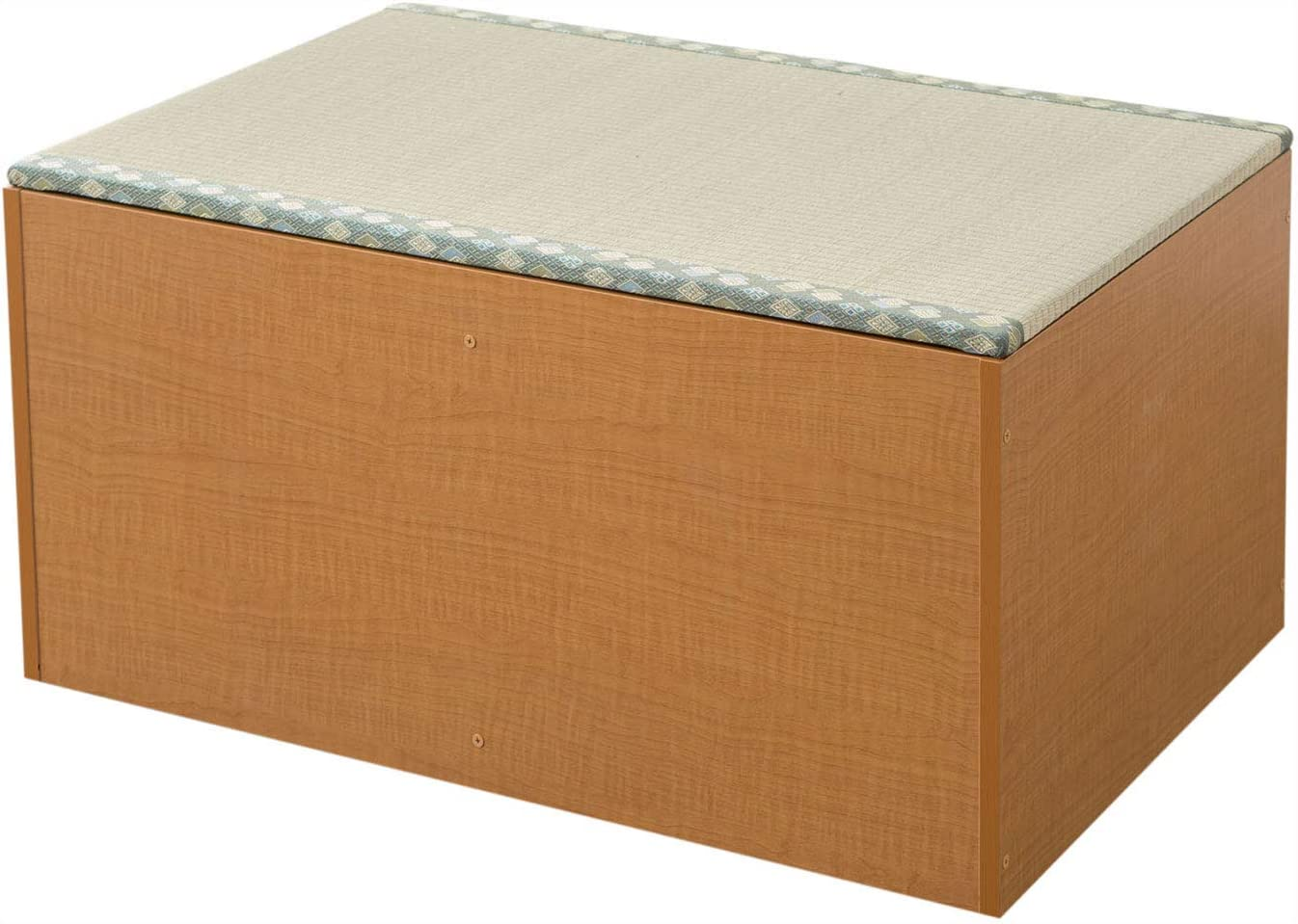 EMOOR Igusa Tatami Unit Storage Ottoman Bench Chest Type-A 35x24x18in (90cm), Natural