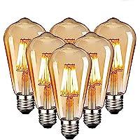 Edison Vintage gloeilamp, Edison LED-lamp, warmwit, E27, 4W, retro gloeilamp, vintage antieke gloeilamp, ideaal voor…