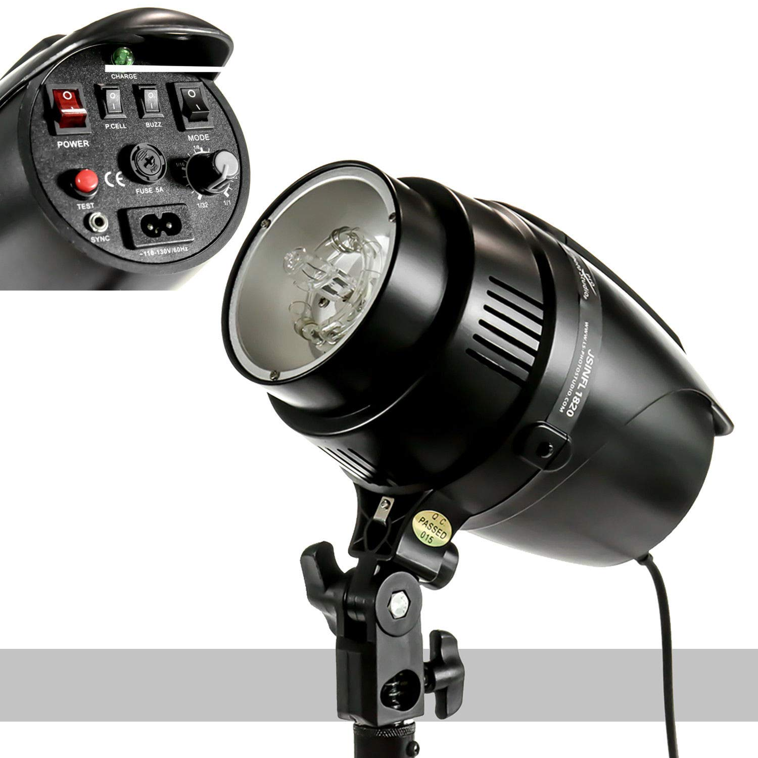 v-1 Studio Photo Studio Flash/Strobe Light Holder 180Watts with Ebook by oldzon