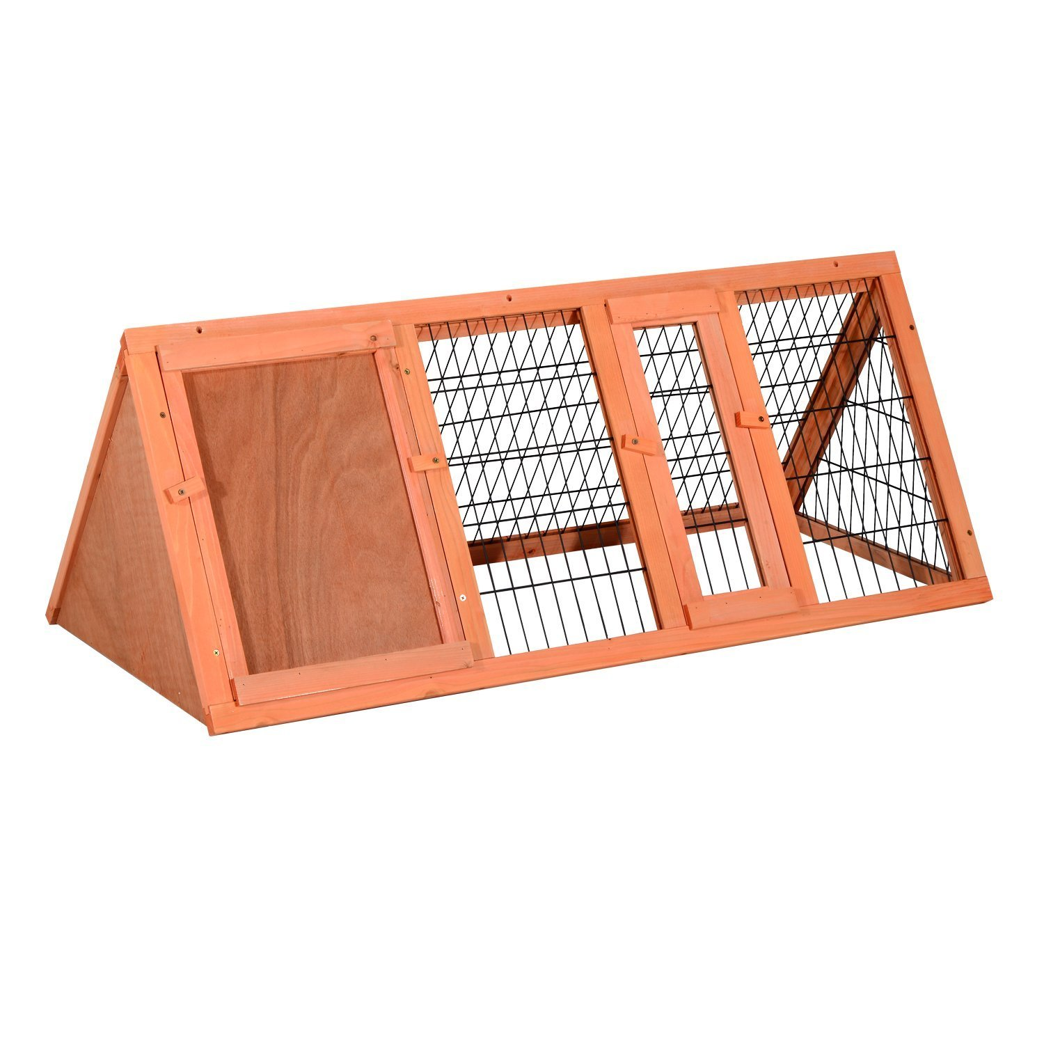 PawHut Wooden Outdoor A-Frame Rabbit and Small Animal Hutch by PawHut