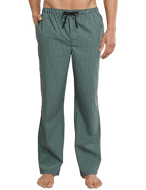 Hose Lang, Pantalones de Pijama para Hombre, Verde (Grün 700), XXX-Large Schiesser