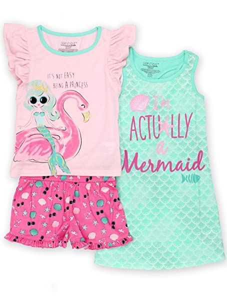 Amazon.com: Komar Kids - Conjunto de pijama de manga corta ...