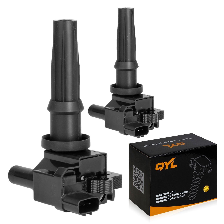 2Pcs Ignition Coil Pack Fits 2001-2006 Kia Optima Santa Fe Magentis Sonata 2.4L I4 UF-285 C1226 UF285 QYL
