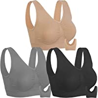 Onory 3 Pack Sports Bras for Women Wirefree Padded Workout Yoga Gym Fitness Bra