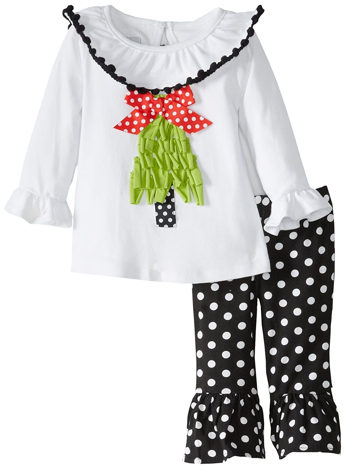 92d8196d2 Amazon.com  Mud Pie Baby Girls  Christmas Tree Tunic and Legging Set ...