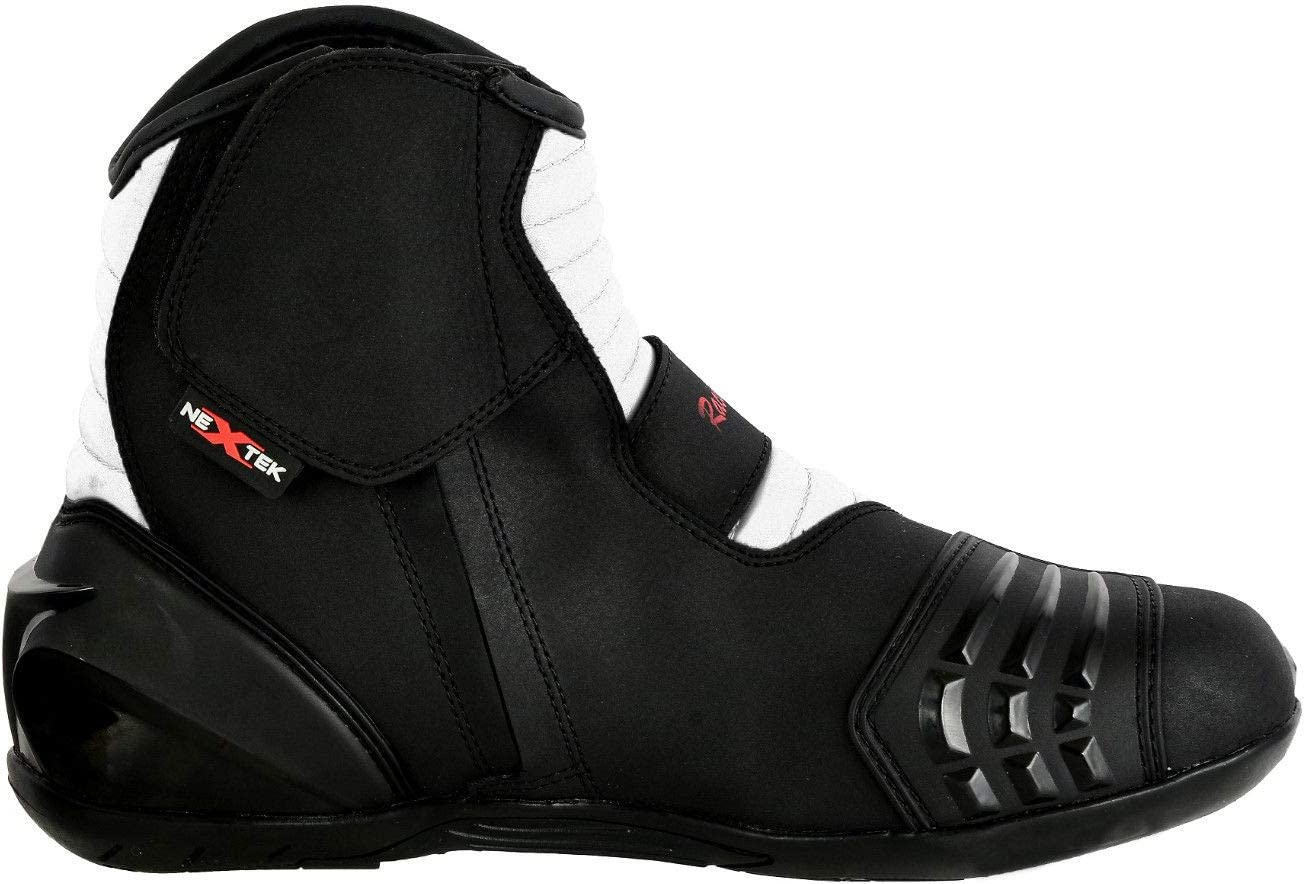 Profirst Global Motorbike Boots Motorcycle Waterproof Riding Shoes Short Ankle Black UK 5 Touring Boot for Mens Boy