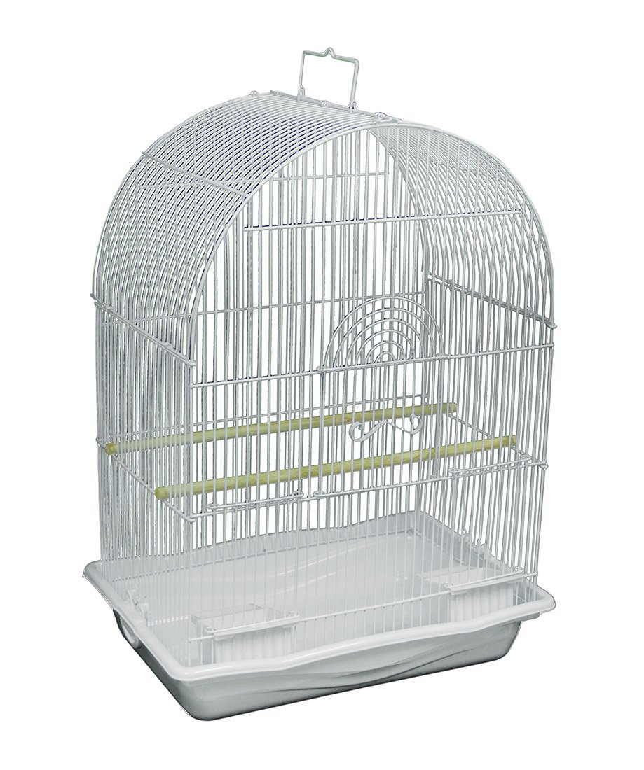 Kelllelldaaa White Arched Top Companion Bird Cage