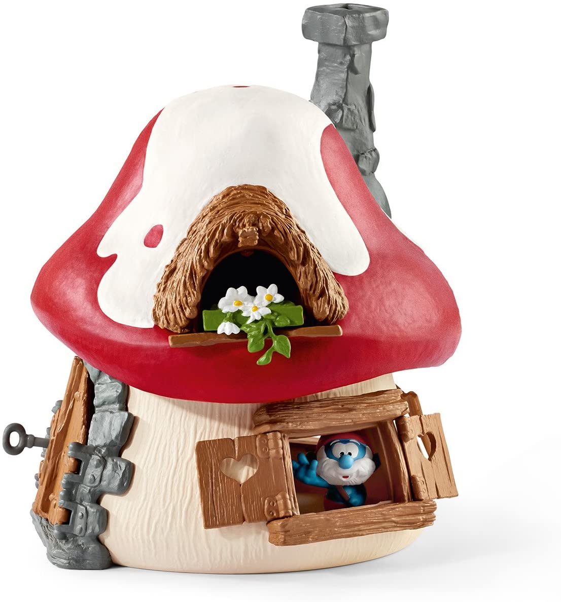 Schleich 20803 Smurf House with Papa Smurf and Gargamel-Collection resolution OVP