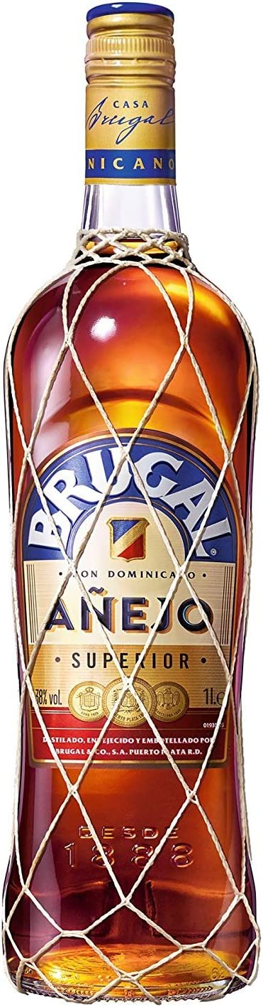 Brugal Añejo Ron Dominicano, 38% - 1 L: Amazon.es ...