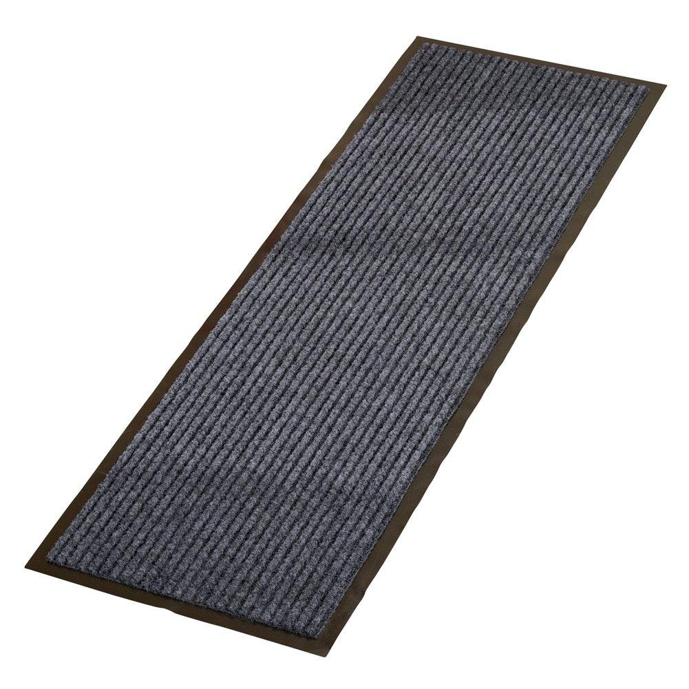 All Weather High Traffic Skid-Resistant Indoor Outdoor Floor Hallway Kitchen Runner Rug , Charcoal