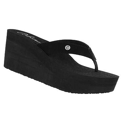 c1c0255a8906f4 Cobian Lanai Women s Flip Flop Wedge Sandal Black