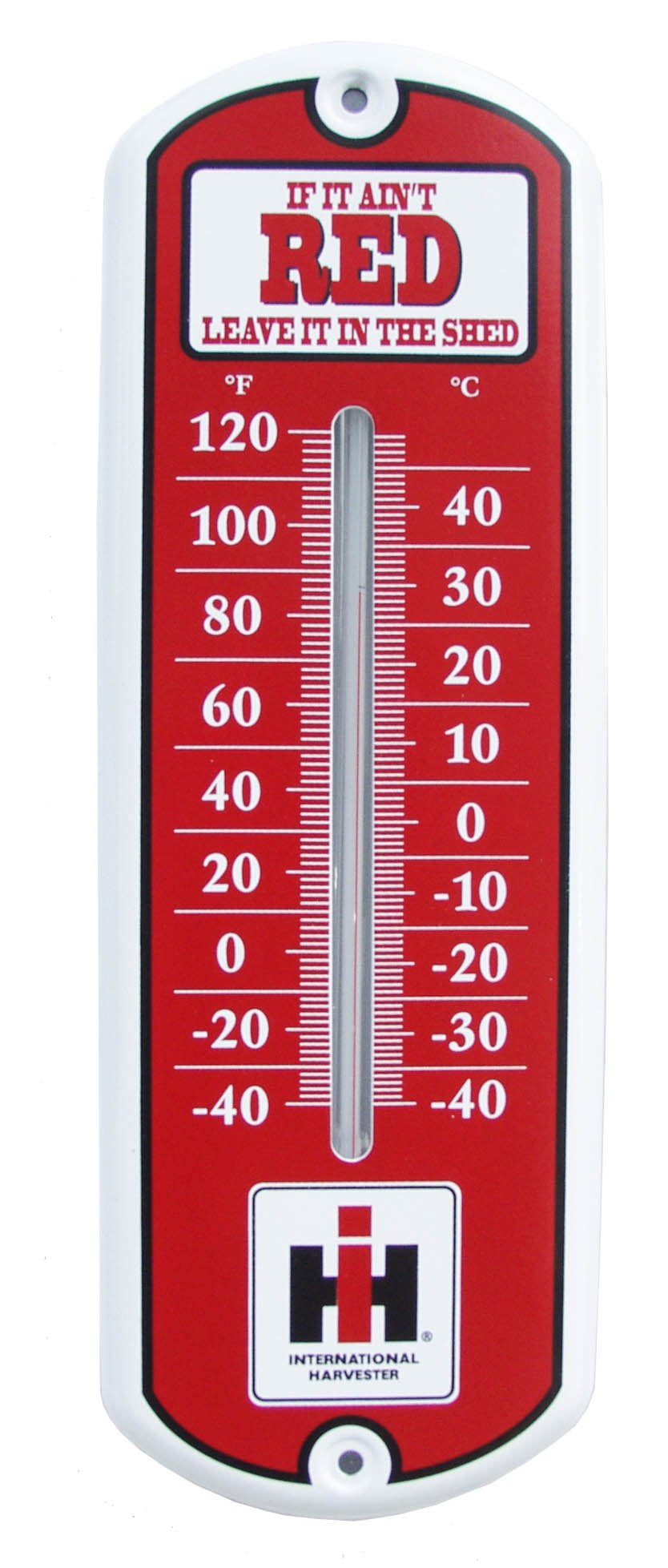 S&D 11173 If it Ain't Red IH Metal Thermometer, 12-Inch