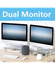 FITUEYES 2 Pack Monitor Stand Riser